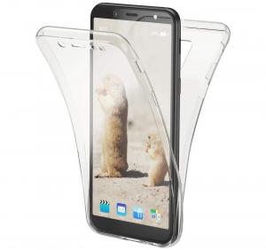 Husa Full TPU 360 fata + spate Samsung Galaxy A6 (2018), Transparent