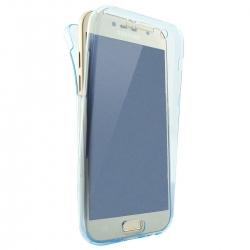Husa Full TPU 360 (fata + spate) Samsung Galaxy A7 (2017), Albastru Transparent