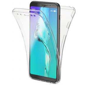 Husa Full TPU 360 fata + spate Samsung Galaxy A8 Plus (2018), Transparent