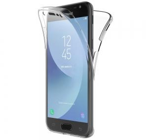 Husa Full TPU 360 fata spate Samsung Galaxy J3 (2017), Transparent