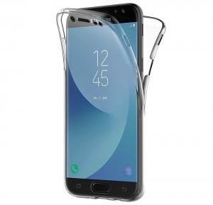 Husa Full TPU 360 fata spate Samsung Galaxy J7 (2017), Transparent