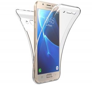 Husa Full TPU 360 fata spate Samsung Galaxy J7 Prime, Transparent