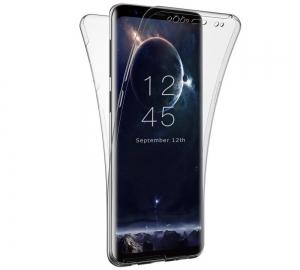 Husa Full TPU 360 fata spate Samsung Galaxy S9 Plus, Gri Transparent