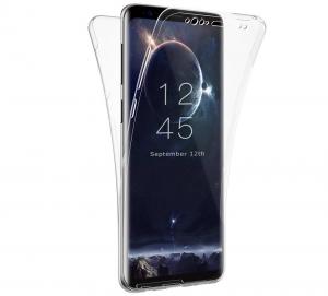 Husa Full TPU 360 fata spate Samsung Galaxy S9 Plus, Transparent