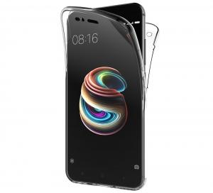 Husa Full TPU 360 fata spate Xiaomi Mi A1, Transparent