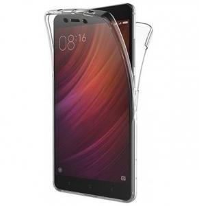 Husa Full TPU 360 fata spate Xiaomi Redmi 4A, Transparent