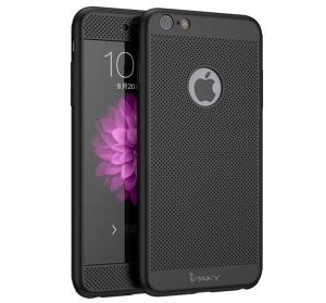 Husa iPaky 360 Air + folie sticla iPhone 6 Plus / 6S Plus, Negru