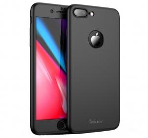 Husa iPaky 360 + folie sticla iPhone 7 Plus, Black
