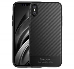 Husa iPaky Carbon Fiber iPhone X, Negru