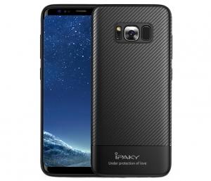 Husa iPaky Carbon Fiber Samsung Galaxy S8 Plus, Negru