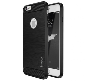 Husa iPhone 6 / 6S iPaky Fiber, Negru