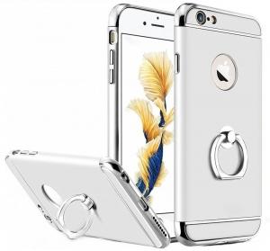 Husa iPhone 6 / 6S Joyroom LingPai Ring, Silver