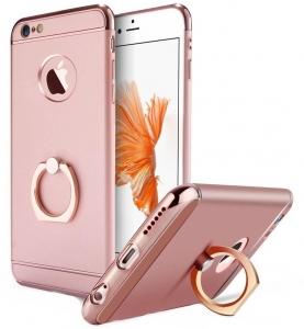 Husa iPhone 6 Plus / 6S Plus Joyroom LingPai Ring, Rose Gold