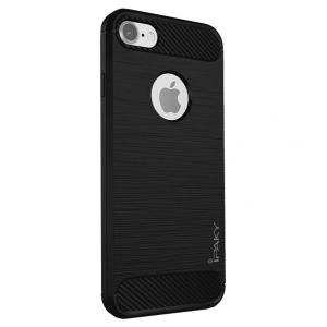 Husa iPhone 7 iPaky Fiber, Negru