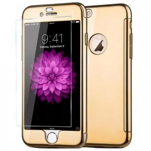 Husa Joyroom 360 + folie sticla iPhone 6 / 6S, Gold