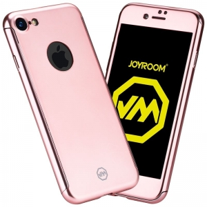 Husa Joyroom 360 + folie sticla iPhone 6 / 6S, Rose Gold