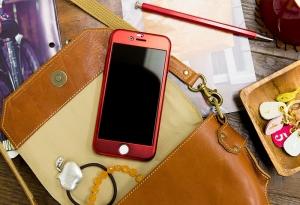 Husa Joyroom 360 + folie sticla iPhone 6 / 6S, Rosu
