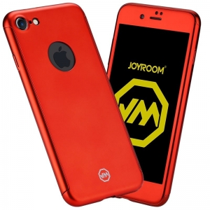 Husa Joyroom 360 + folie sticla iPhone 6 Plus / 6S Plus, Rosu