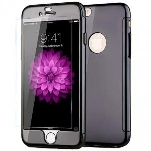 Husa Joyroom 360 + folie sticla iPhone 7, Negru
