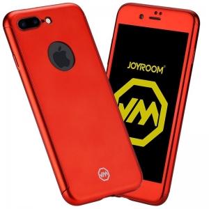 Husa Joyroom 360 + folie sticla iPhone 7 Plus, Red