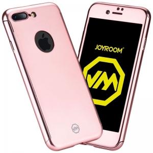 Husa Joyroom 360 + folie sticla iPhone 7 Plus, Rose Gold
