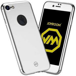 Husa Joyroom 360 + folie sticla iPhone 7, Silver