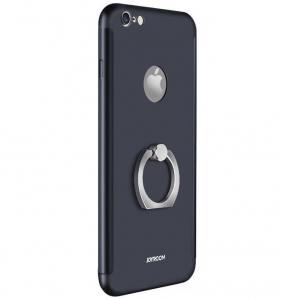 Husa Joyroom 360 Ring + folie sticla iPhone 6 / 6S, Black