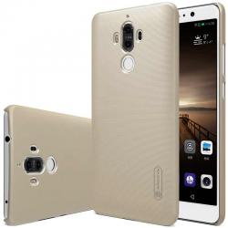 Husa Nillkin Frosted + folie protectie Huawei Mate 9, Gold