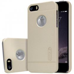 Husa Nillkin Frosted + folie protectie iPhone 5 / 5S / SE, Gold