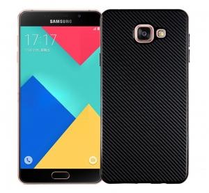 Husa Samsung Galaxy A3 (2016) i-Zore Carbon, Negru