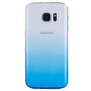 Husa TPU Gradient pentru Samsung Galaxy S7 Edge, Albastru / Transparent