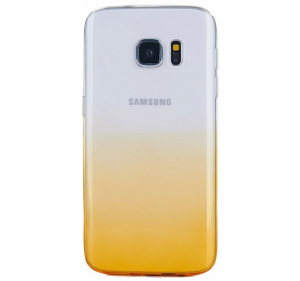 Husa TPU Gradient pentru Samsung Galaxy S7 Edge, Galben / Transparent