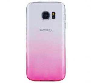 Husa TPU Gradient pentru Samsung Galaxy S7 Edge, Roz / Transparent