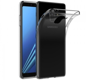 Husa TPU Slim Samsung Galaxy A8 Plus (2018), Transparent
