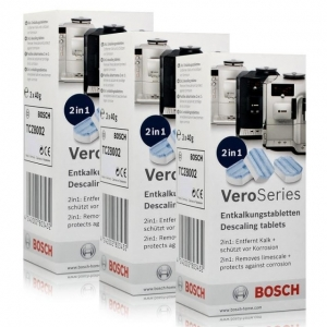 Tablete detartrare 2 in 1 pentru Bosch Vero series Espressomachines TCZ8002  - 3 Tablete