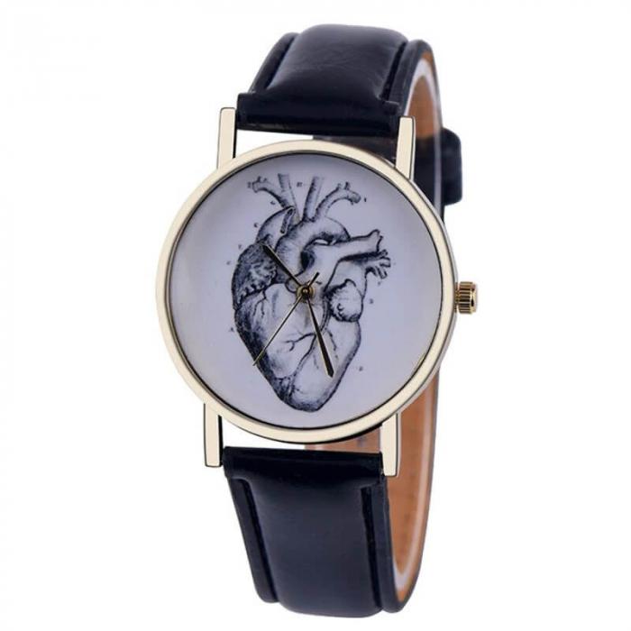 Ceas unisex elegant anatomia inimii