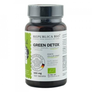 Green Detox (500 mg) supliment alimentar Ecologic Republica BIO, 120 tablete