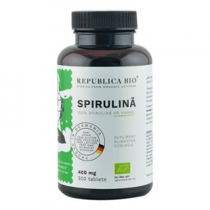 Spirulina Ecologica de Hawaii (400 mg) Republica BIO, 300 tablete