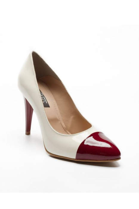 Pantofi dama din piele naturala Luana Marsala