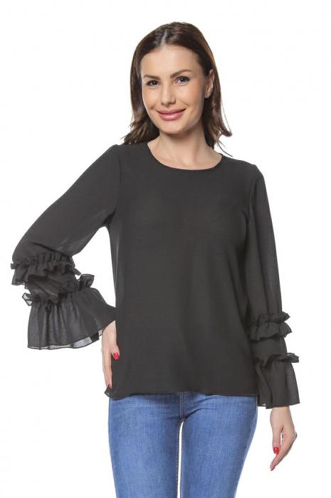 Bluza dama din vascoza Black B127