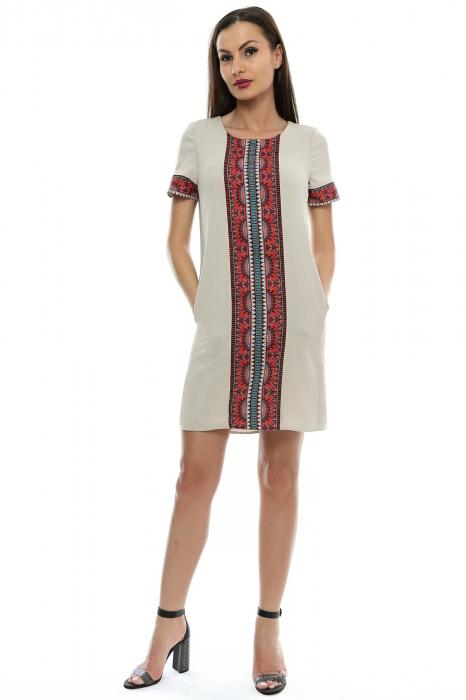 Rochie dama cu insertie printata RO109