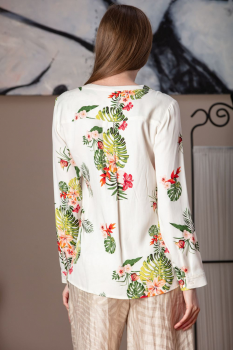 Bluza casual din vascoza imprimata Balkan