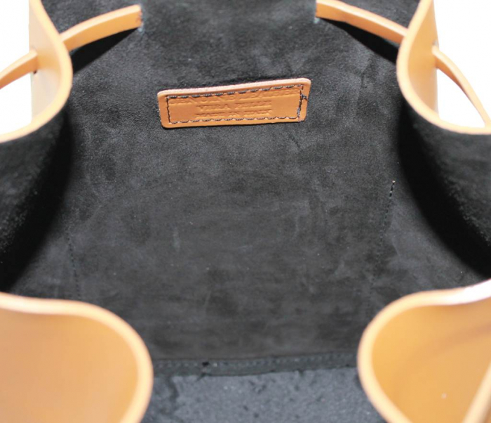 Geanta din piele naturala Brown Bucket