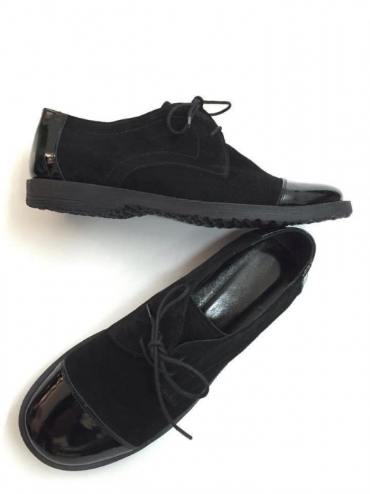 Pantofi din piele Oxford Pam Black