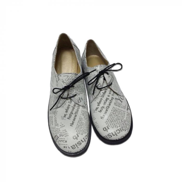 Pantofi din piele pentru femei Oxford Paper