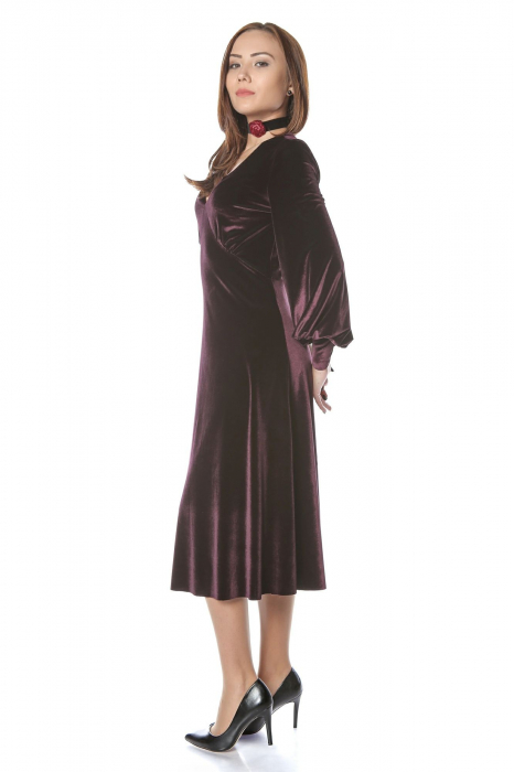 Rochie eleganta din catifea Katia