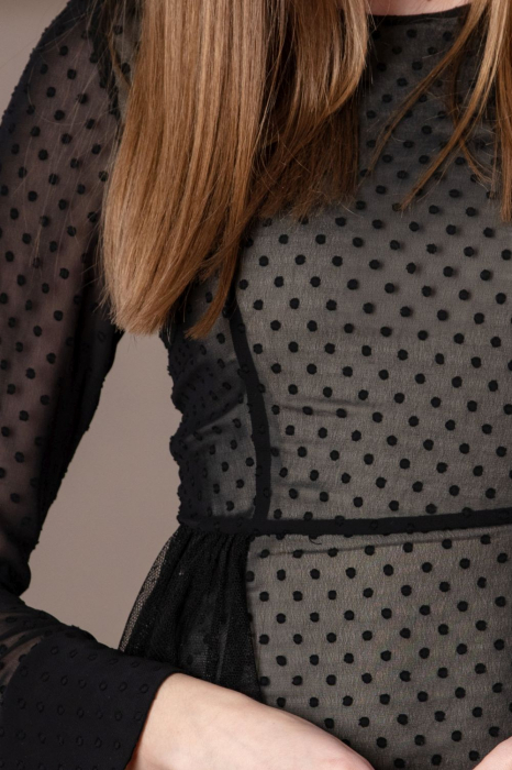 Rochie eleganta neagra din voal fin Limiam