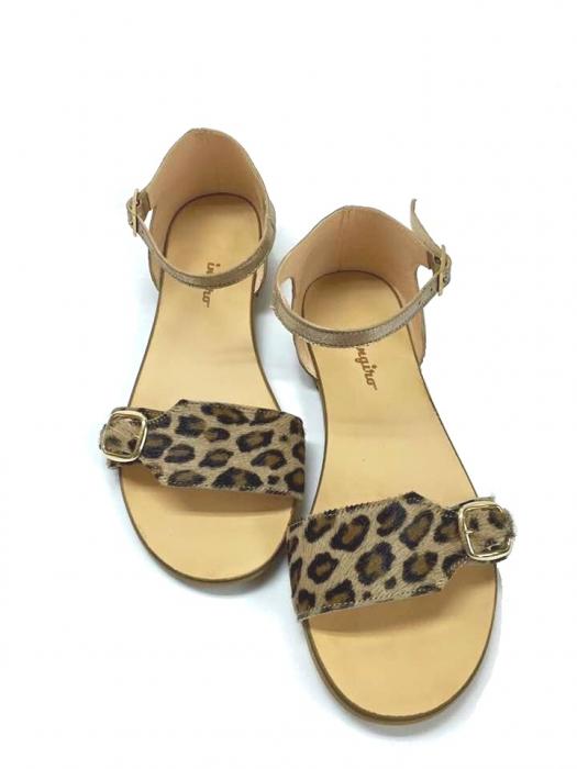 Sandale de dama din piele Ada Pony Print