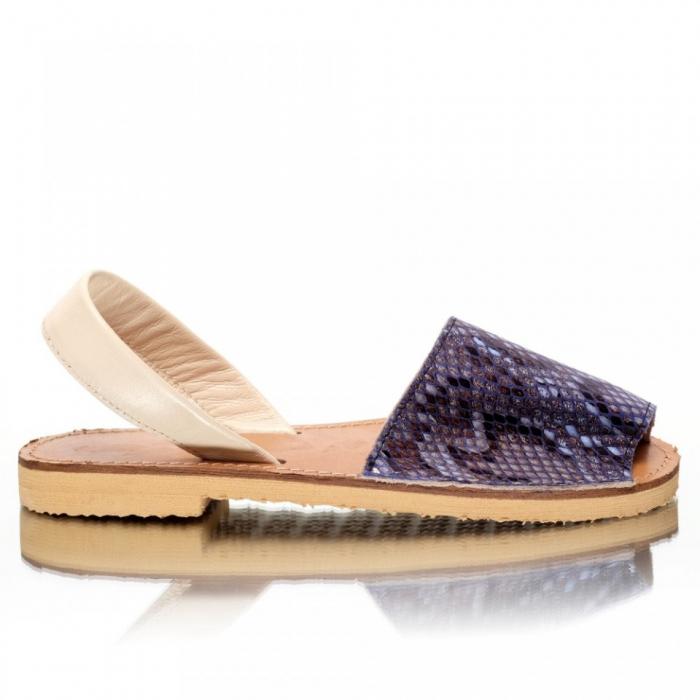Sandale dama tip Avarca Blue Snake