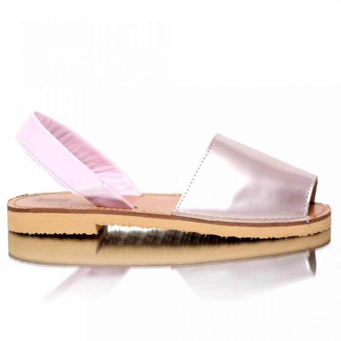 Sandale dama tip Avarca Metalic Pink